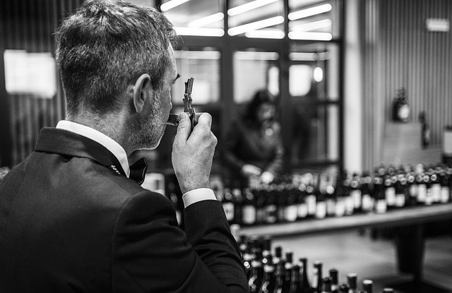 sommelier at work